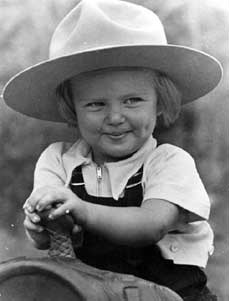 Marilyn, as a litte girl